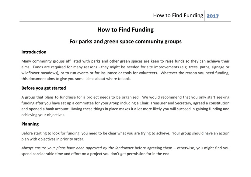 how to find funding 2017