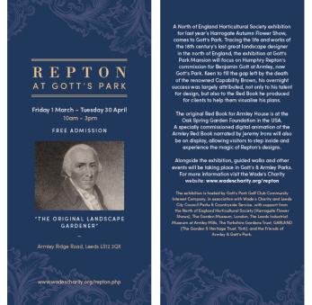 Repton at Gott's Park Information Leaflet